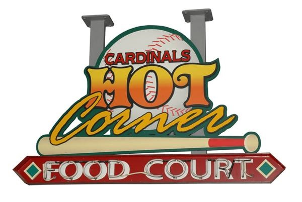 "Cardinals' ""Hot Corner"" Neon Sign from  the Food Court"