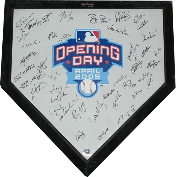 Busch Stadium Opening Day 2005 Signed Commemorative Home Plate
