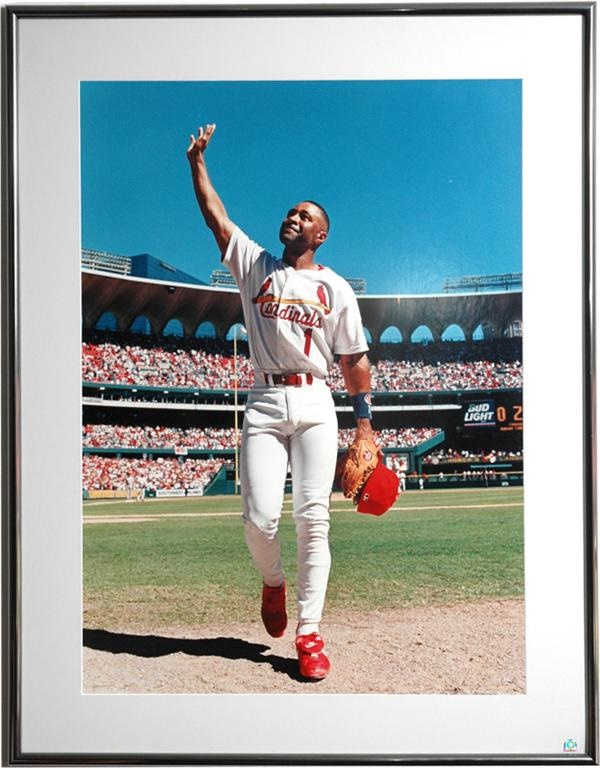 Three Great Framed Ozzie Smith Photographs from Stadium Club