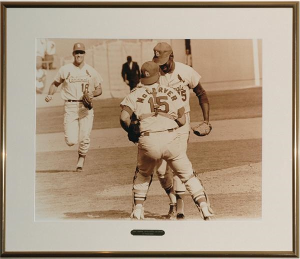 1967 Bob Gibson 17-Strikeout World Series Game Framed Photo from Cardinals' Club