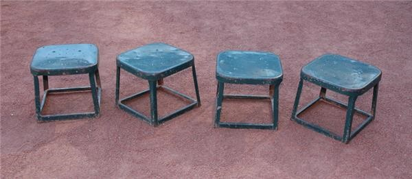 Metal Stools from Behind  Home Plate Area (4)