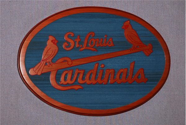 St. Louis Cardinals Solid Wood Sign from  the Owner's Box
