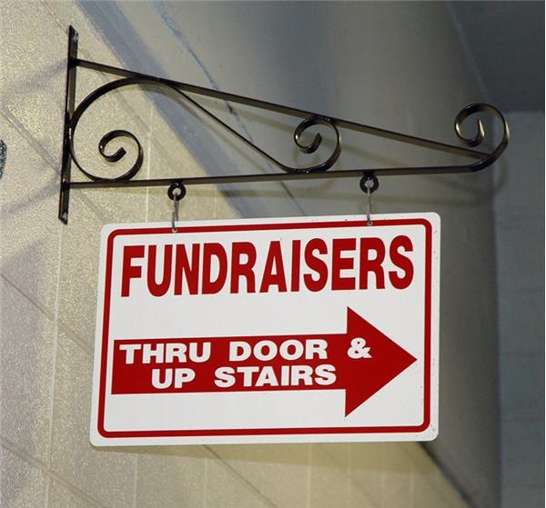 Hanging Fundraiser Sign