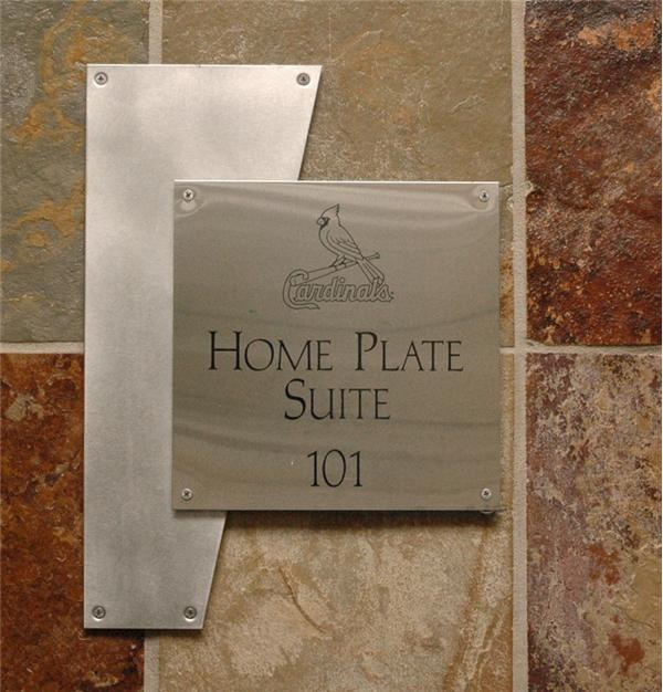Home Plate Suite Signs  Room 103