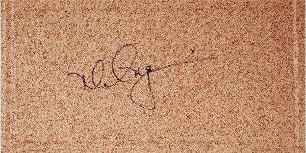 Cardinals Locker Room  McGwire Signed Cinder Block