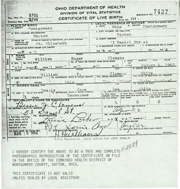 department of health ohio birth certificate