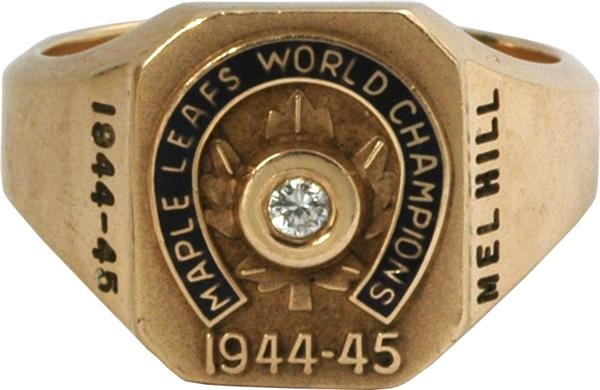 "Mel ""Sudden Death"" Hill Toronto Maple Leafs Stanley Cup Ring"
