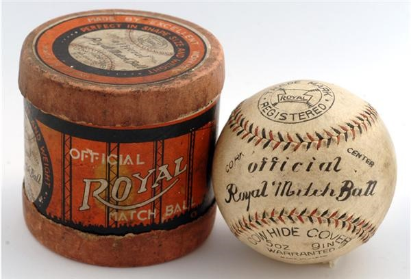 Official Royal Match Baseball And Original Cylinder