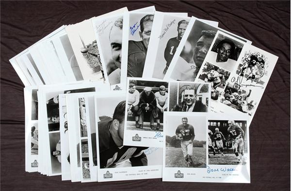 Signed Photos Of NFL Hall Of Famers (64)