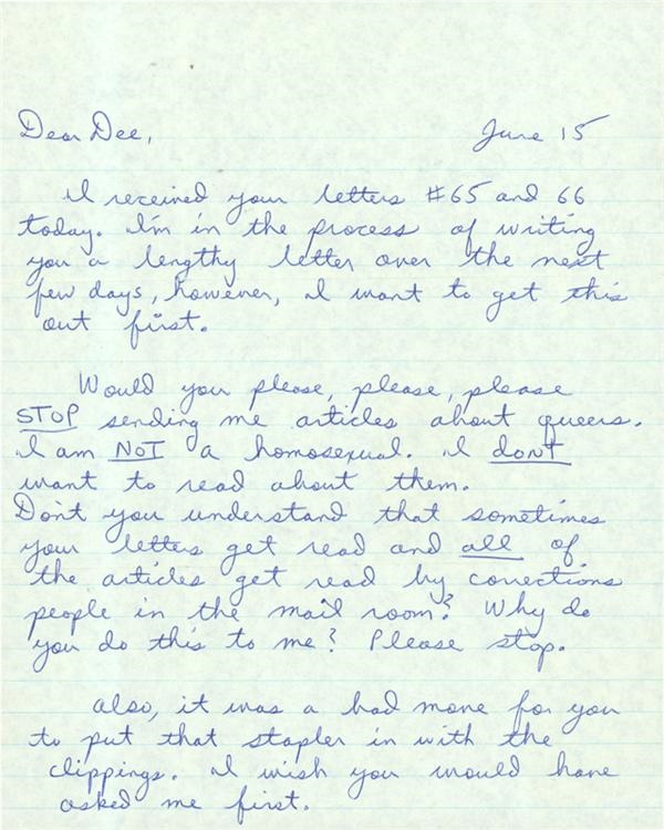 "Serial Killer Letter Collection Of 28 Including Charles Manson, Squeaky Fromme And ""Son of Sam"" David Berkowitz"