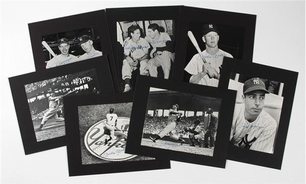 B&W Autographed Photo Collection Of Mickey Mantle, Joe DiMaggio And Ted Williams (7)