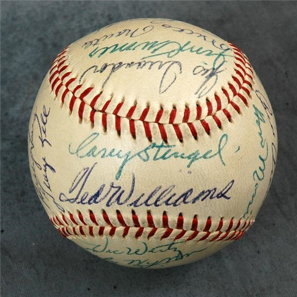 1957 American League All-Star Team Signed Baseball
