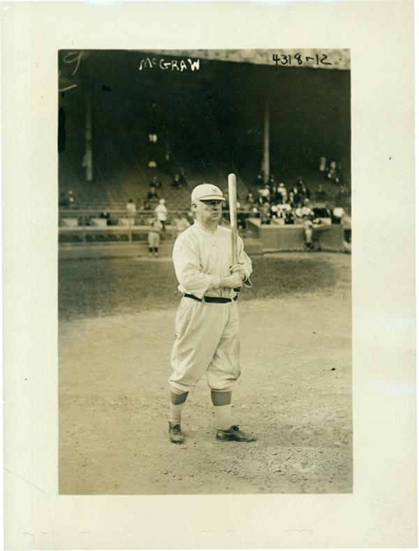 John McGraw 1920 New York Giants Photo By Bain