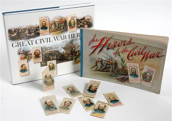 1888 Duke Heroes Of The Civil War 50-Card Set with rare Premium Album.