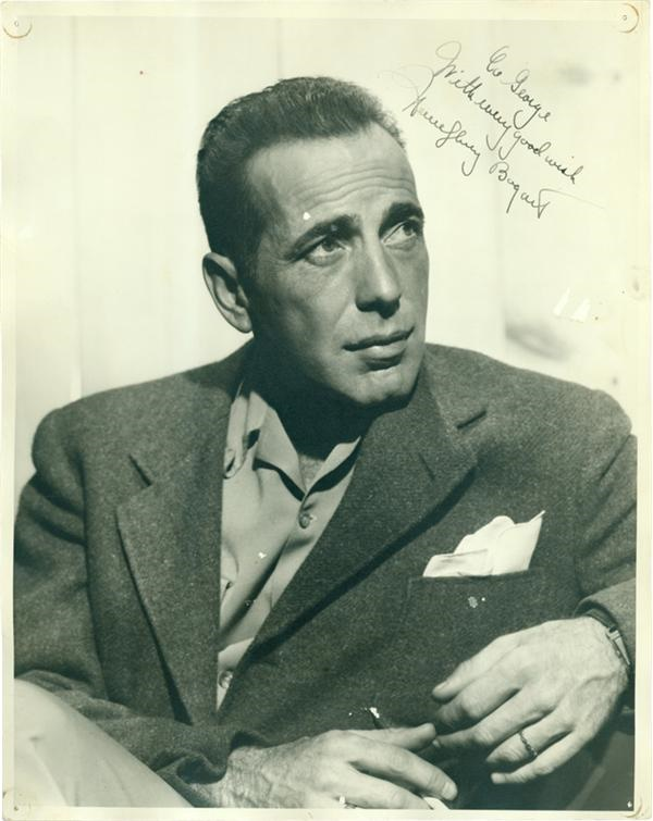 Bogart & Bacall 11 x 14 Vintage Signed Photos (2)