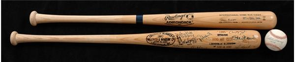 Autographed Collection With 3,000 Hit Bat, Hank Aaron/Sadaharu Oh Bat & Ted Williams .406 Ball