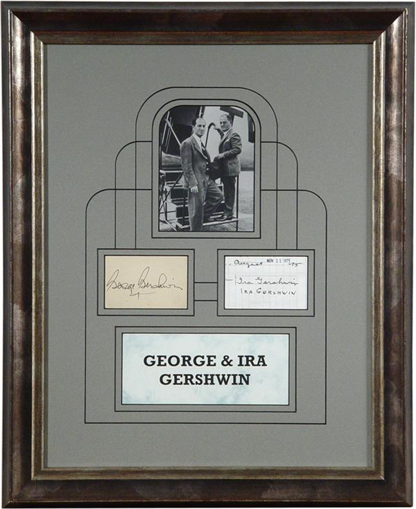 George And Ira Gershwin Original Photo And Autographs