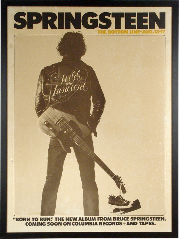 Bruce Springsteen's Personal Copy Of The Famous 1975 Bottom Line Poster