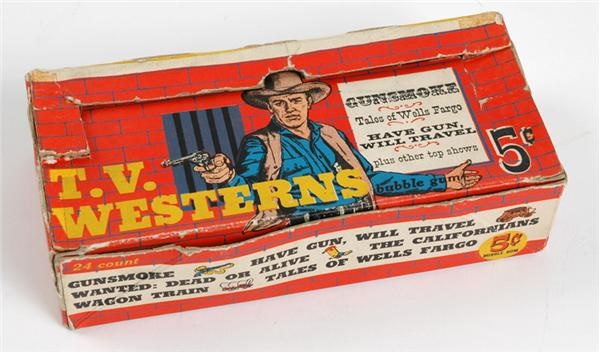 1958 Topps TV Westerns Display Box