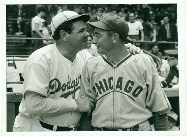 1938 Babe Ruth & Tony Lazzeri Photograph