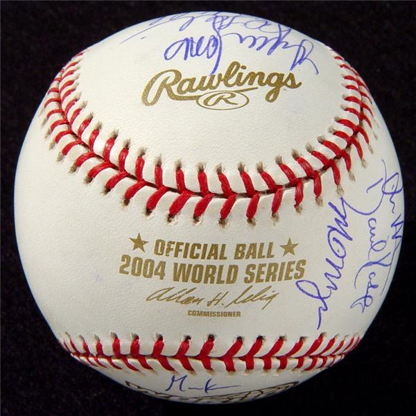 2004 World Champion Boston Red Sox Team Signed Baseball