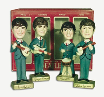 1964 The Beatles Complete Set of Bobbing Heads in Original Box