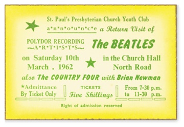March 10, 1962 Ticket