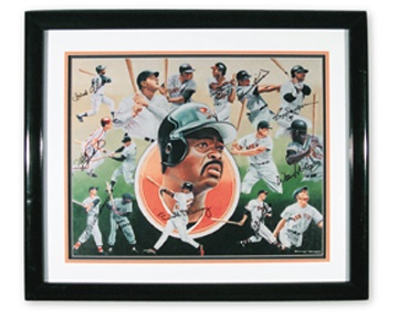 500 Home Run Club Signed Poster (22x27