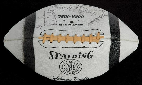1968 Baltimore Colts Team Signed Football-Super Bowl III Team