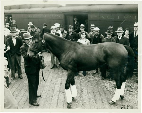 Seabiscuit and Trainer Tom Smith (1937)