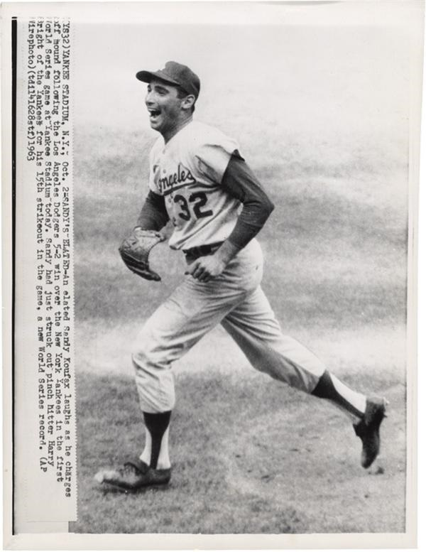 Koufax Elated After Opening Game of 1963 World Series