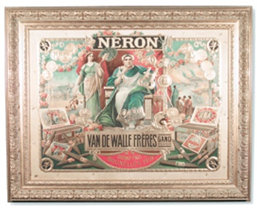 1910 Emperor Nero Cigar Advertising Sign