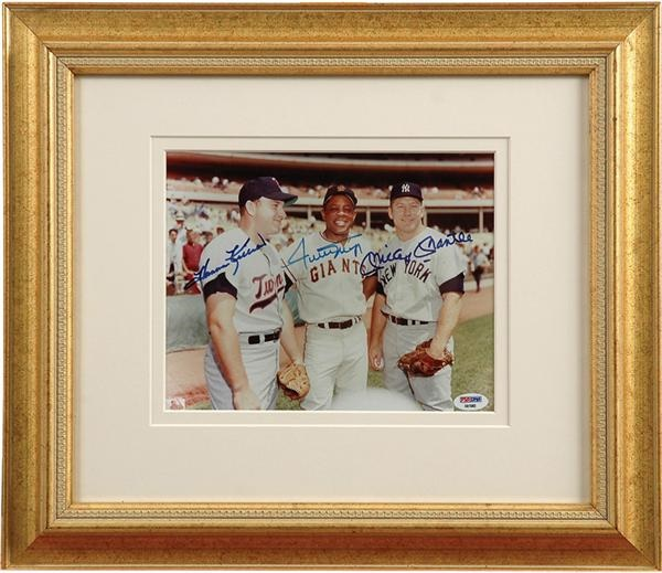 Mantle, Mays and Killebrew Signed Photo
