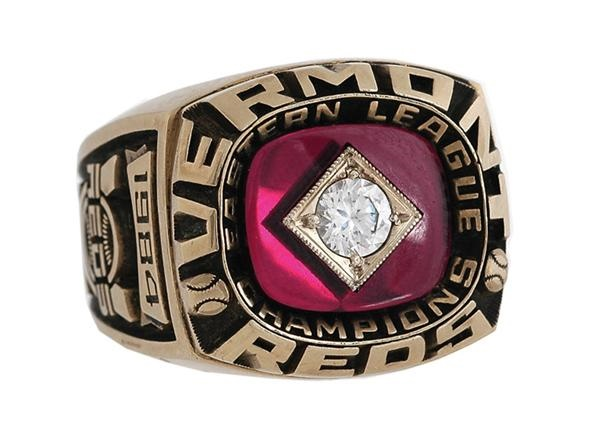 1984 Vermont Reds Eastern League Championship Ring