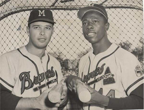 Hank Aaron and Eddie Mathews (1958)