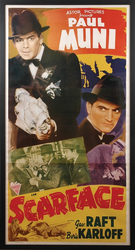 1938 Scarface Three-Sheet Movie Poster (41x79