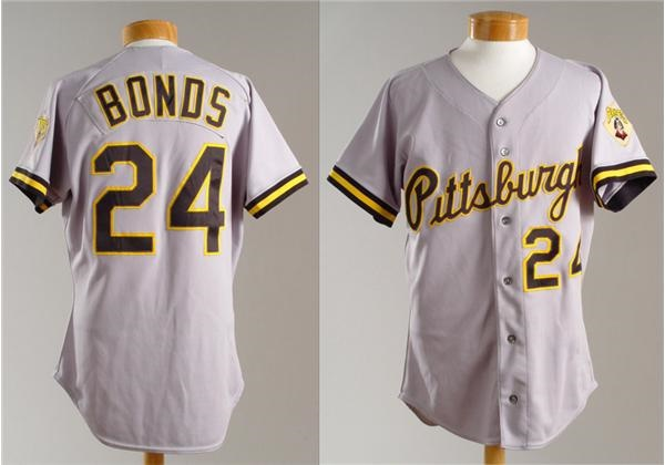 1992 Barry Bonds Game Worn Pittsburgh Pirates Road Jersey