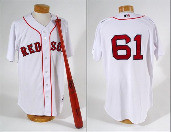 2005 Bronson Arroyo Boston Red Sox Game Used Jersey and Bat