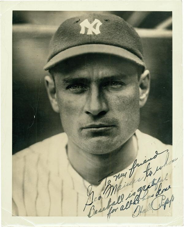 Wally Pipp Signed Photograph