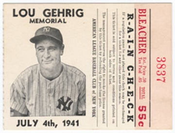 Lou Gehrig - auction