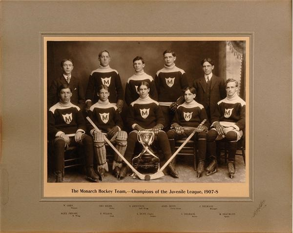 1907-1908 Winnipeg Monarchs Team Photo