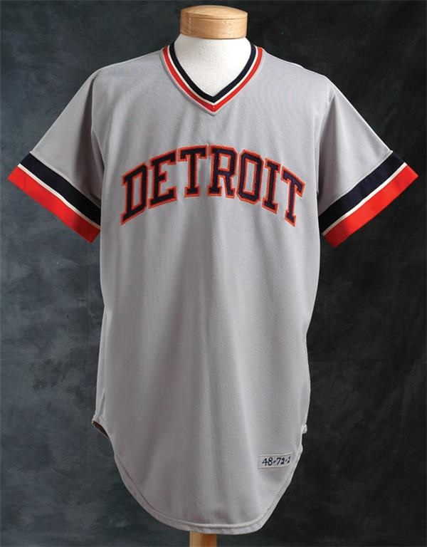 1972 Mickey Lolich Detroit Tigers Game Used Road Jersey