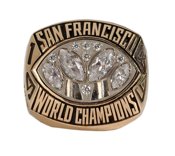 1989 SanFrancisco 49ers Super Bowl Championship Ring