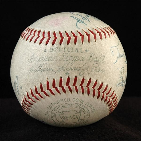 1956 World Series Umpires Signed Baseball