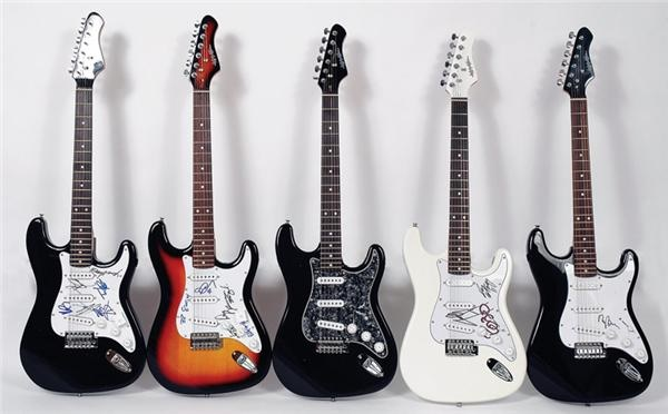 Collection of Signed Guitars (16)