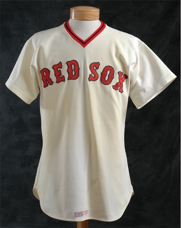 1976 Fred Lynn Home Boston Red Sox Game Worn Jersey