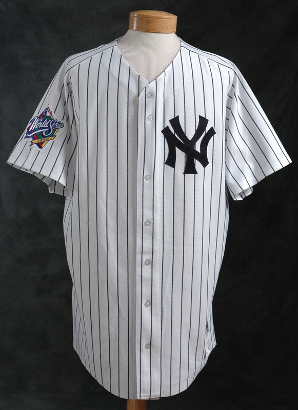 1998 Jeff Nelson New York Yankee Game Worn World Series Jersey