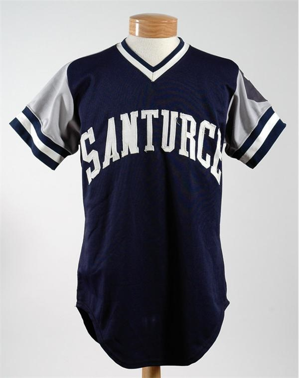 Sandy Alomar 1984-85 Santurce Game Used Jersey