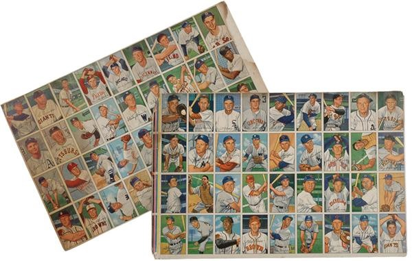 Extremly Rare 1952 Bowman Complete Set in Uncut Sheets (7)