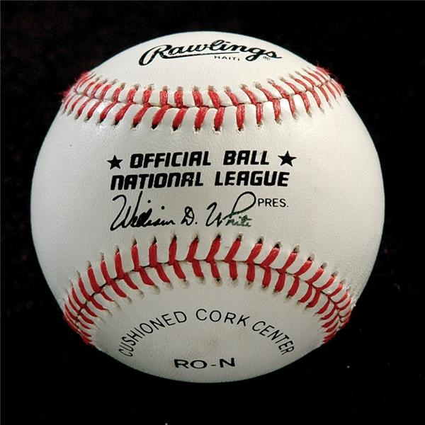 Richard Nixon Single Signed Baseball Obtained by Major League Umpire